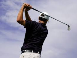 Photo image of golfer for golf elbow