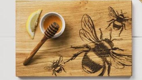 Bee Oak Serving Board 30cm
