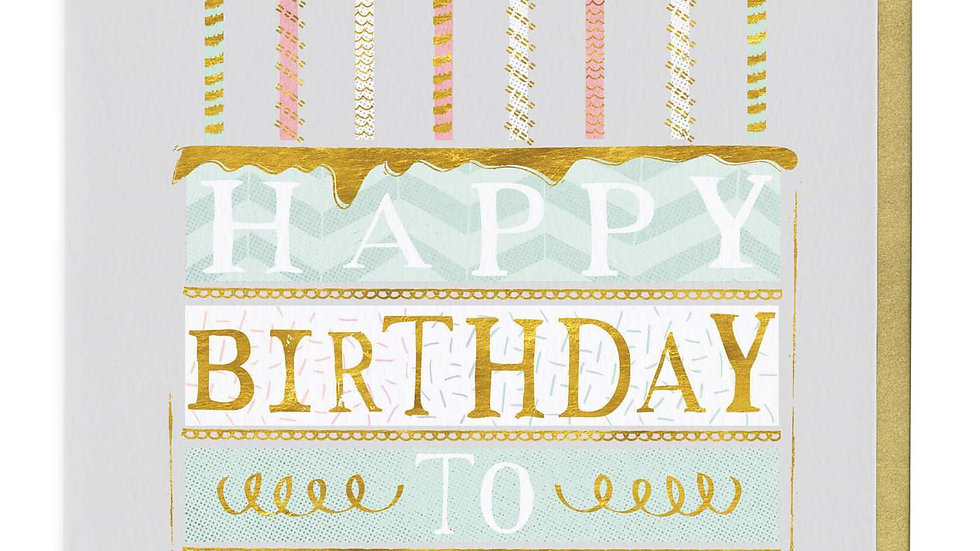 Happy Birthday To You Layer Cake Card