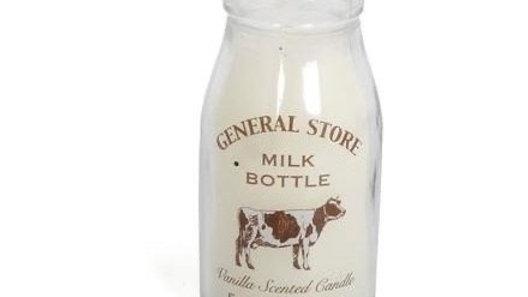 Milk Bottle Candle, 12cm