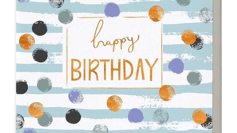 Blue Confetti Birthday Card