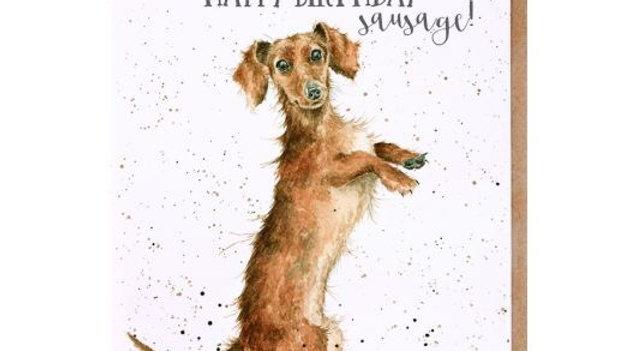 'Sausage' Birthday card