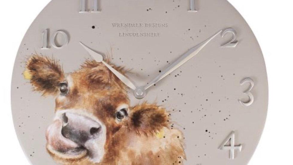 Wrendale Moooo' Cow Clock