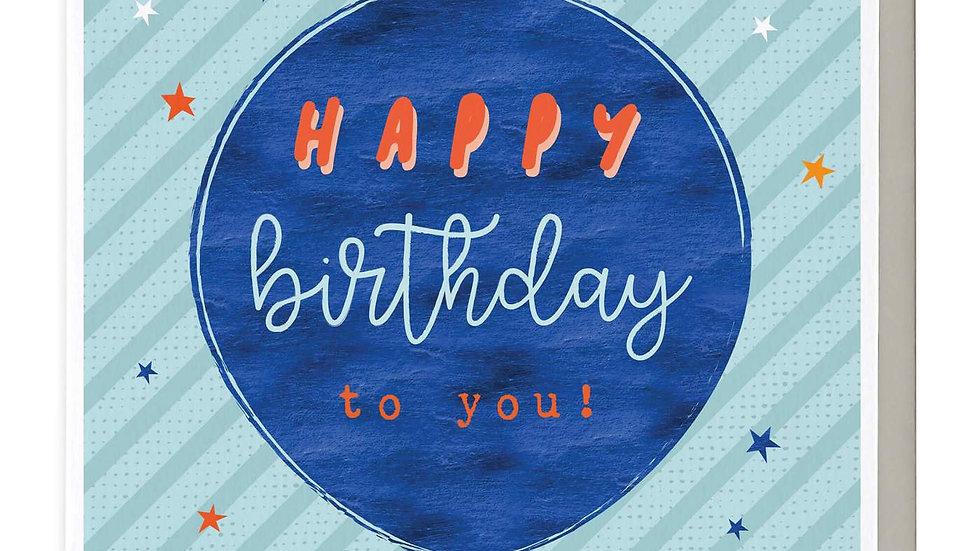 Balloon Happy Birthday To You Card