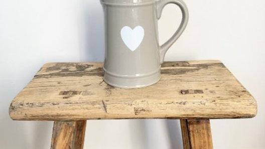 Heart Design Jug, Grey