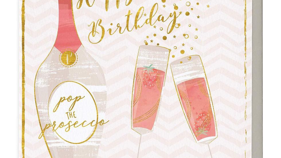 Happy Birthday Pop The Prosecco Card