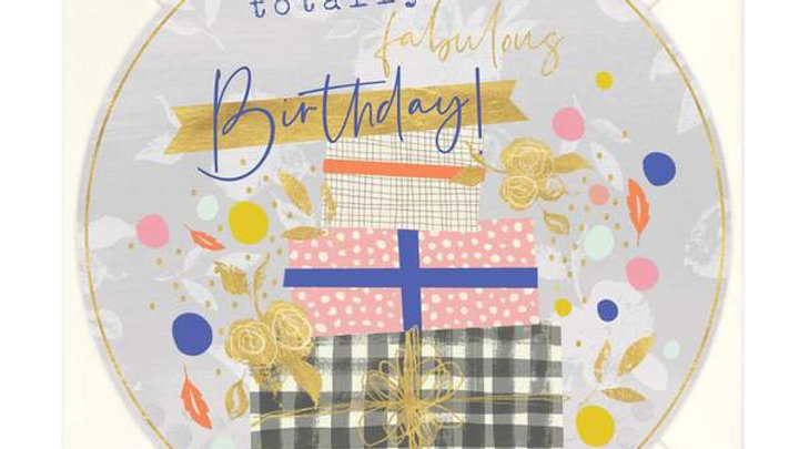 Have a Totally Fabulous Birthday Round Card