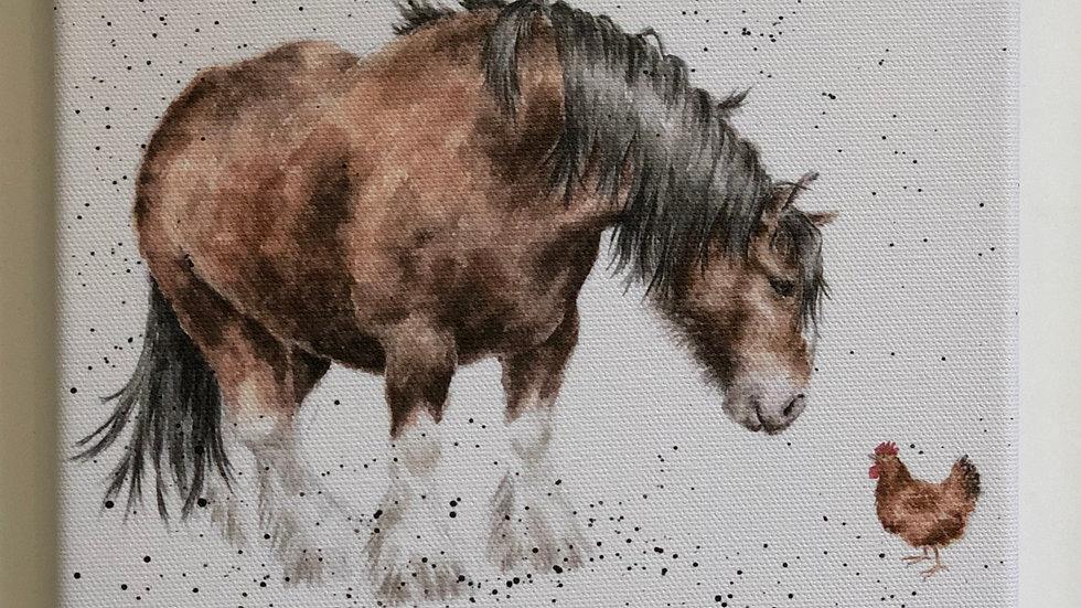 Wrendale horse canvas 20 x 20cm