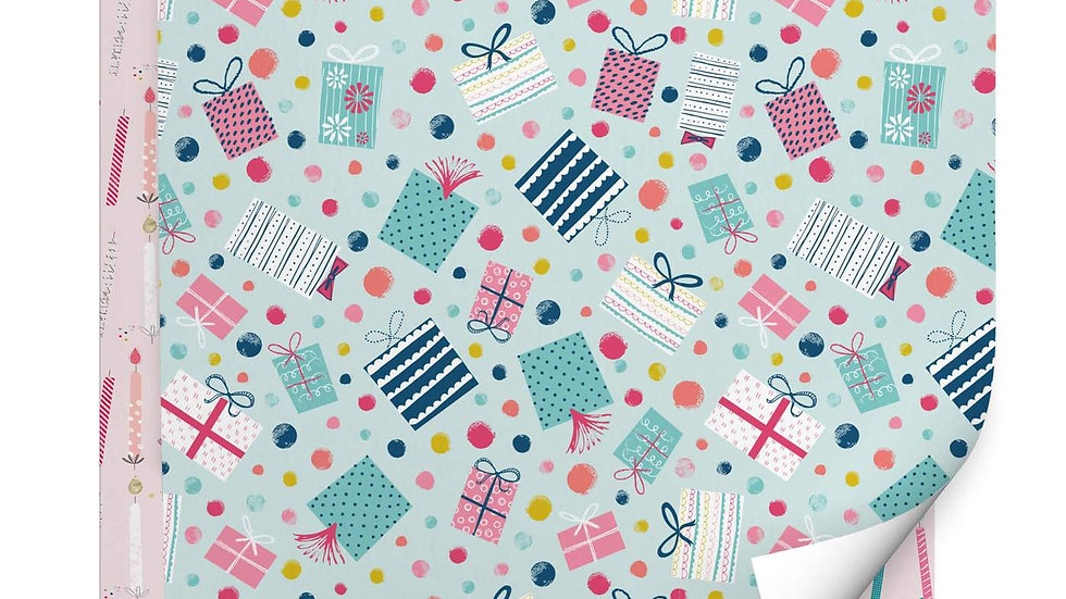 Candles and Presents Birthday Wrapping Paper Pack