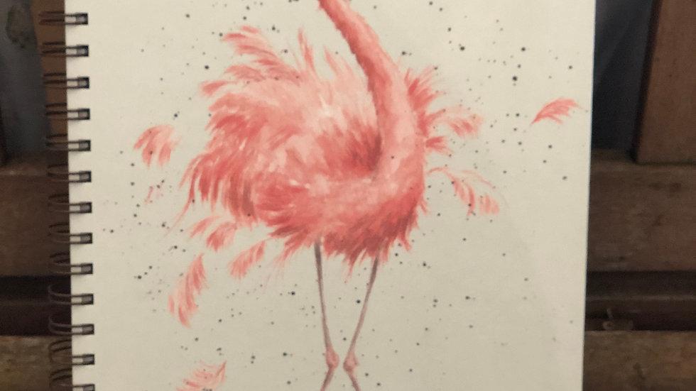 Wrendale A4 flamingo notebook