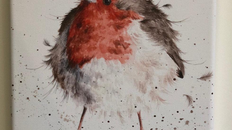 Wrendale robin canvas 20 x 20cm