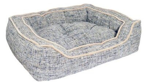 Rosewood 40 Winks Luxury Slate & Oatmeal Square Bed 55cm