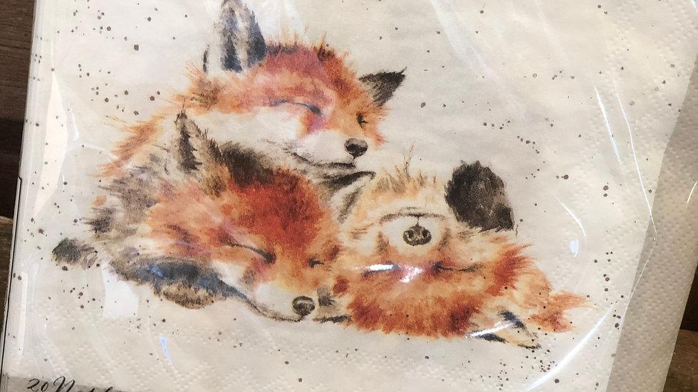 Wrendale large foxy napkin