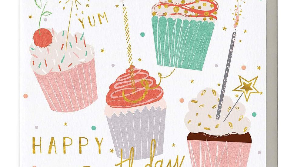 Mmm Cupcakes Birthday Card