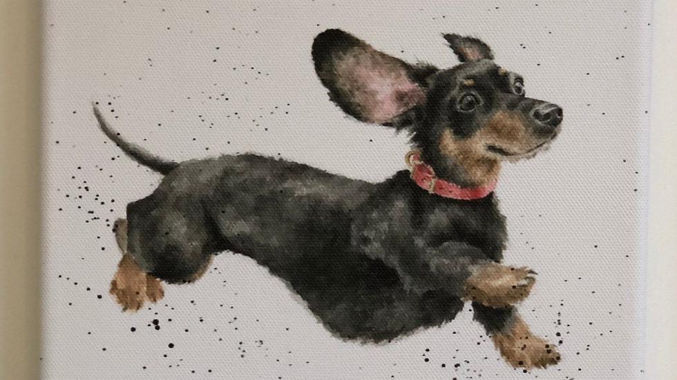 Wrendale dog canvas 20 x 20cm