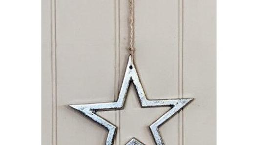 Hanging Aluminium Star, 20cm