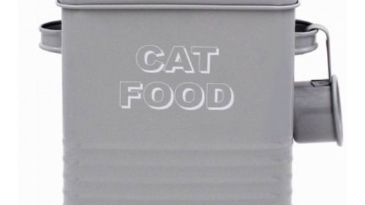 Grey Kitchen Collection Cat Food Tin