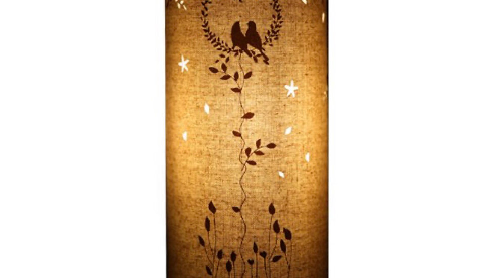 Fabric Lamp – Love Birds