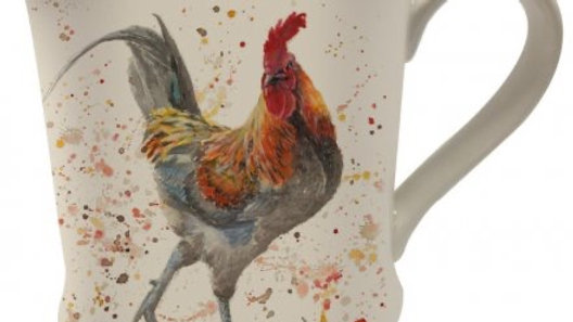 Bree Merryn Splash Art Rooster Mug