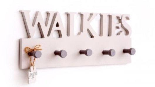 30 x 12 cm Dog Wooden Wall Hooks Walkies