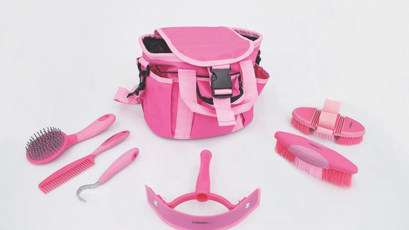 Equestrian Grooming Kit with Bag - Pink