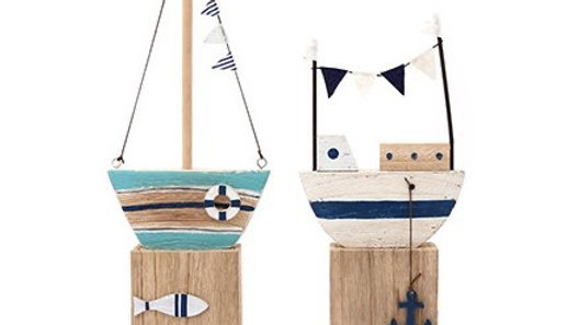 Beachside Boat Ornaments