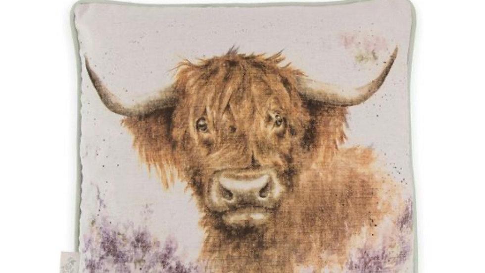 'Highland Heathers' Cow Cushion