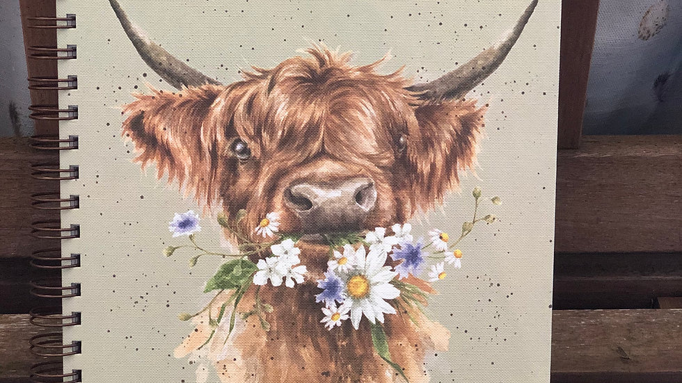 Wrendale A4 highland cow notebook