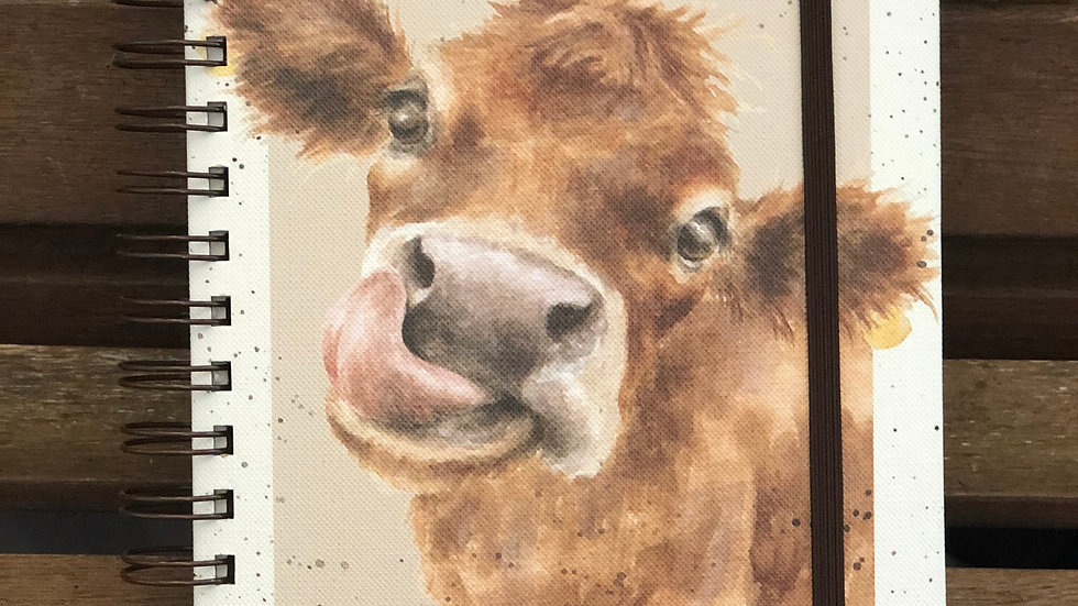 Wrendale A4 cow notepad