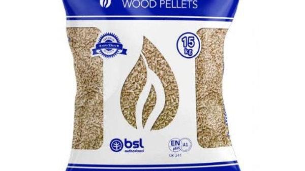 Pure wood pellets