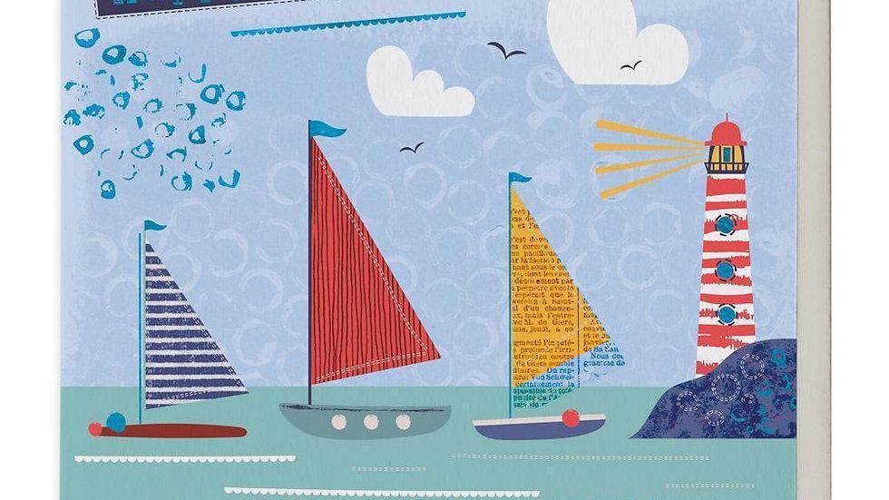 Sailing Boats Birthday Card