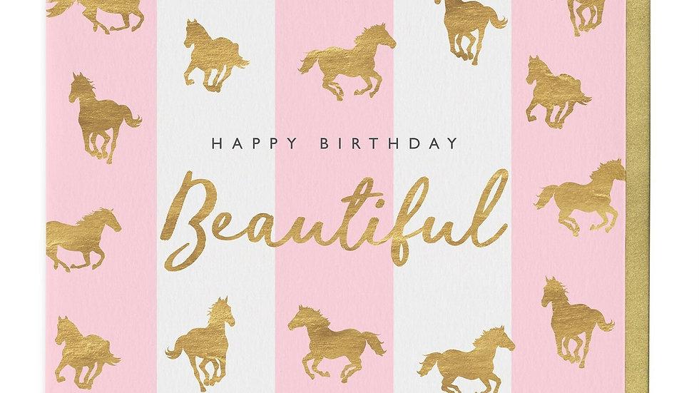 Beautiful Horse Print Birthday Card