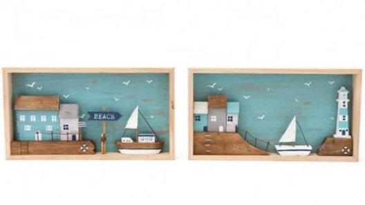 Seaside Box Plaque