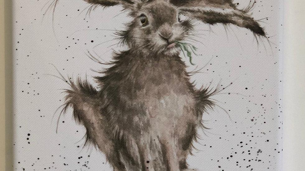 Wrendale Hare canvas 20 x 20cm