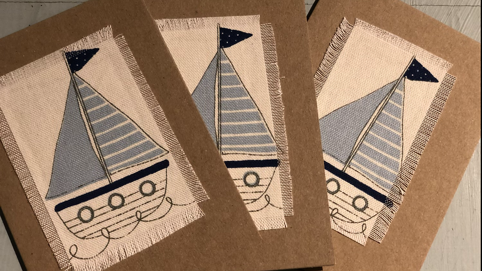 Hand made nautical boat cards