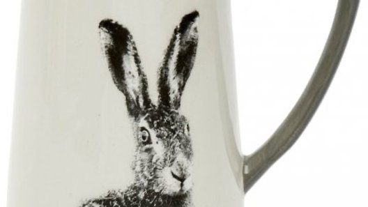 Ceramic Hare Printed Jug, 11cm