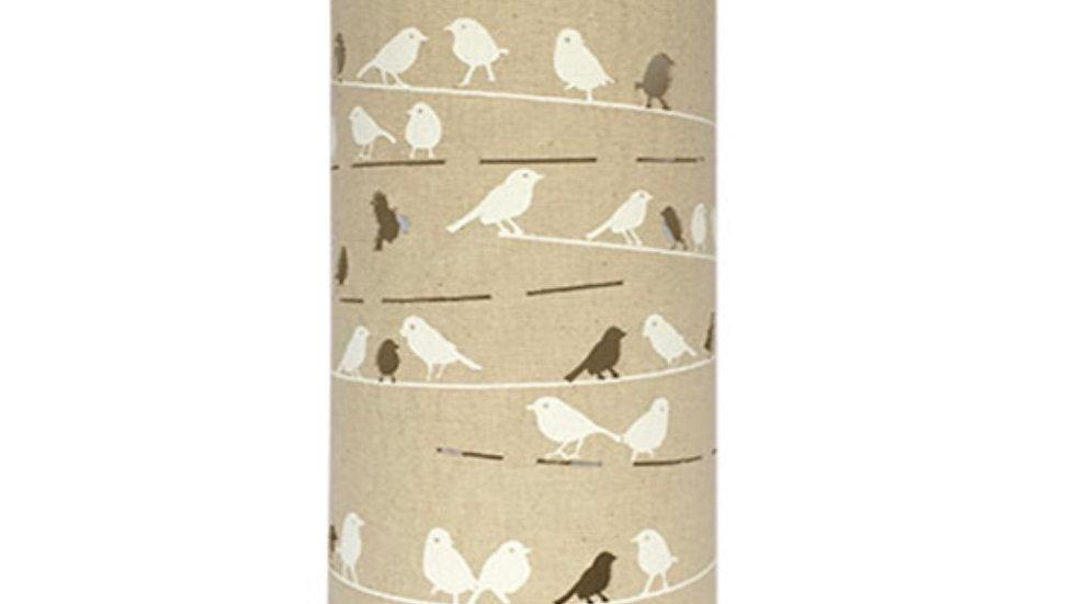 Fabric Lamp – Birds on Wire