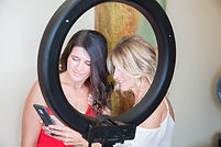 Showing my client her beautiful picture I took of her using this Ring Light