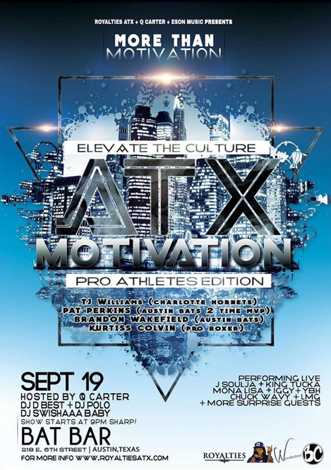 ATX Motivation Returns Tues 19 Sep 17