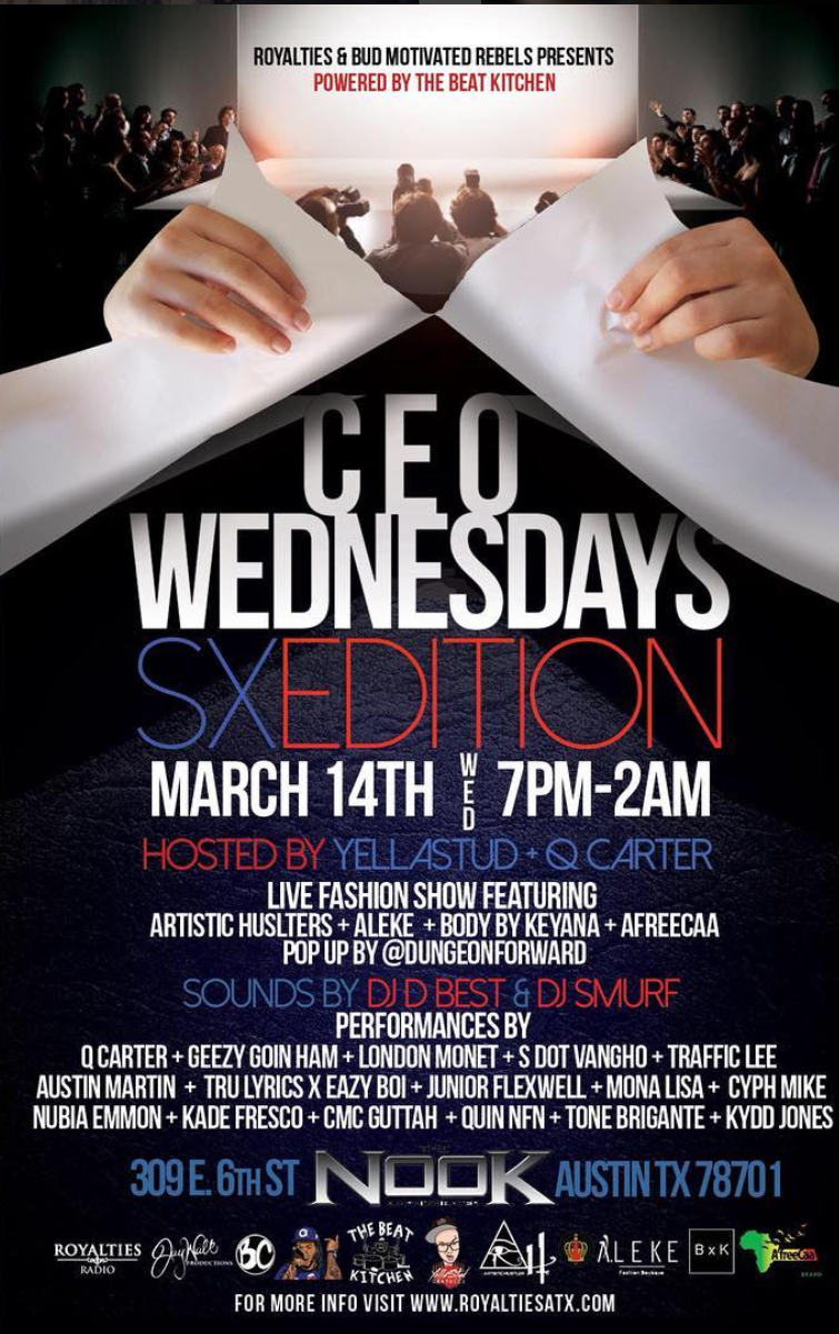 CEO Wednesday 14 Mar 18 7pm - 2am @Nook