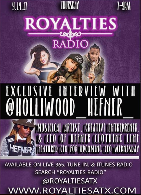 Holliwood Heffner on Royalties Radio