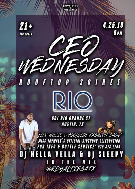 April 25 - CEO Wednesday!!!