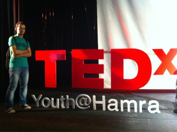 Giving a talk at TEDx