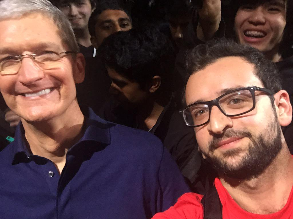 Selfie with Time Cook of Apple