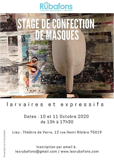Flyer stage confection de masque. face.j