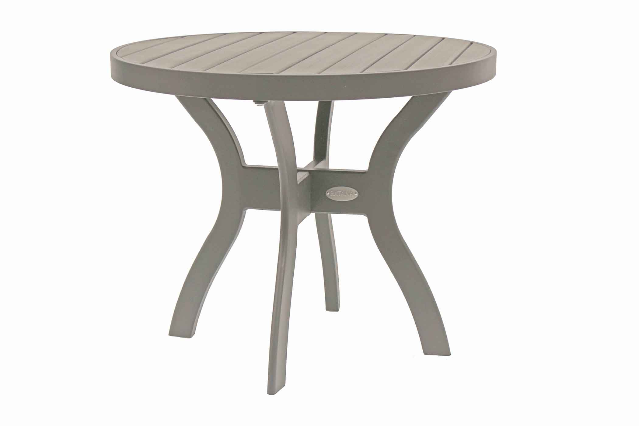 Pisa 20 Rd Lounger Side Table w-Durawood Top (SR)