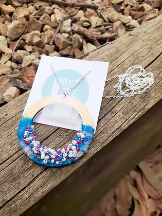 Solitude Necklace - Aqua Circle