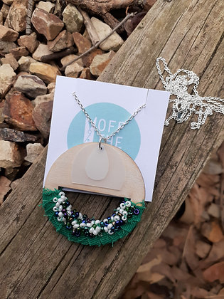 Solitude Necklace - Emerald Cutout
