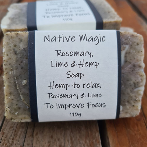 Wholesale Rosemary, Lime & Hemp Soap