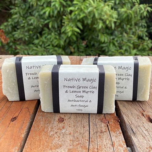 Lemon Myrtle & Green Clay Soap